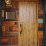 玄関 ヘリンボーンドア