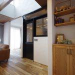 造作収納飾り棚